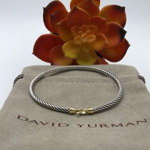 David Yurman 3mm gold Buckle Bracelet